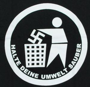 Detailansicht T-Shirt: Halte Deine Umwelt sauber