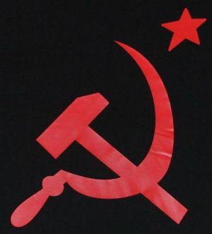 Detailansicht T-Shirt: Hammer und Sichel mit Stern