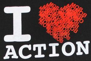 Detailansicht T-Shirt: Heart (black)