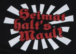 Detailansicht Kapuzen-Pullover: Heimat halt's Maul
