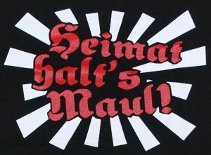 Detailansicht Girlie-Shirt: Heimat halt's Maul