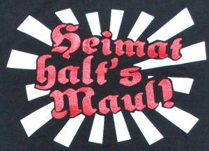 Detailansicht T-Shirt: Heimat halt's Maul