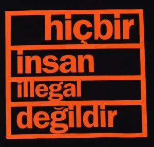 Detailansicht T-Shirt: hicbir insan illegal degildir