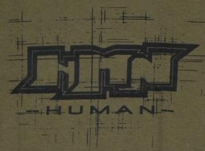 Detailansicht Girlie-Shirt: Human
