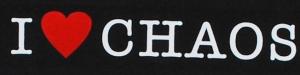 Detailansicht Girlie-Shirt: I love Chaos