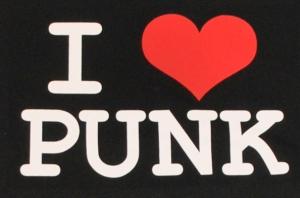 Detailansicht Kapuzen-Pullover: I love punk
