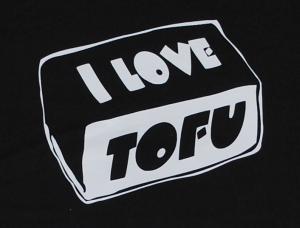 Detailansicht Girlie-Shirt: I love Tofu