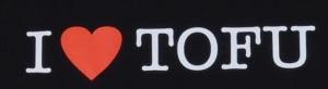 Detailansicht Fairtrade T-Shirt: I love Tofu