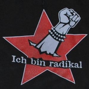 Detailansicht Kapuzen-Pullover: Ich bin radikal