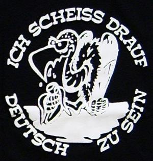Detailansicht Girlie-Shirt: Ich scheiß drauf deutsch zu sein