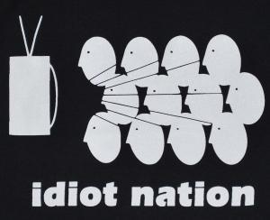 Detailansicht Top / Trägershirt: Idiot Nation