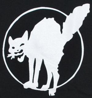 Detailansicht Girlie-Shirt: Katze