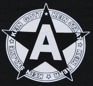 Detailansicht Longsleeve: Kein Gott Kein Staat Kein Herr Kein Sklave