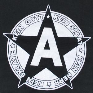 Detailansicht Kapuzen-Jacke: Kein Gott Kein Staat Kein Herr Kein Sklave