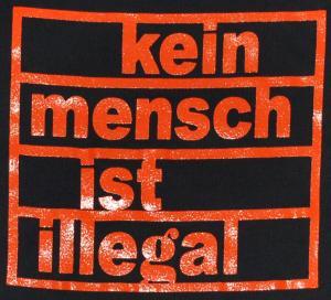Detailansicht Top / Trägershirt: Kein Mensch ist illegal (orange)