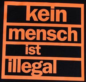 Detailansicht Woman Tanktop: Kein Mensch ist illegal (orange)