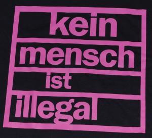 Detailansicht T-Shirt: Kein Mensch ist illegal (pink)