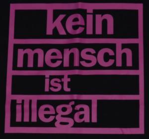 Detailansicht Tanktop: Kein Mensch ist illegal (pink)