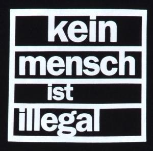 Detailansicht Babybody: Kein Mensch ist illegal (weiß)