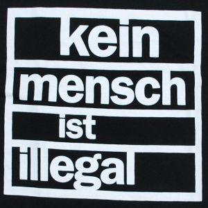 Detailansicht T-Shirt: kein mensch ist illegal