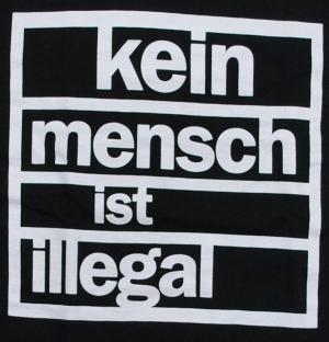 Detailansicht tailliertes T-Shirt: kein mensch ist illegal