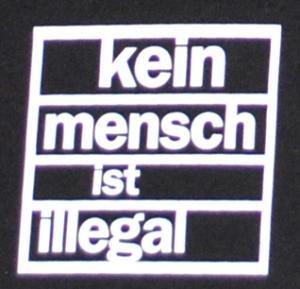 Detailansicht Shorts: kein mensch ist illegal