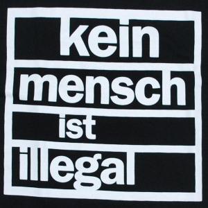 Detailansicht Jogginghose: kein mensch ist illegal
