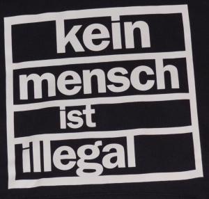 Detailansicht Woman Kapuzen-Pullover: Kein Mensch ist Illegal