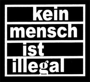 Detailansicht Polo-Shirt: kein mensch ist illegal