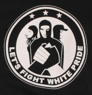 Detailansicht Kapuzen-Pullover: Let´s Fight White Pride