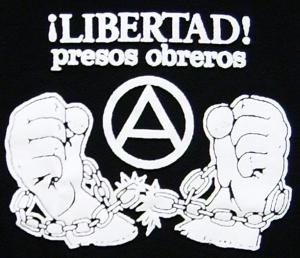 Detailansicht Girlie-Shirt: Libertad presos obreros!
