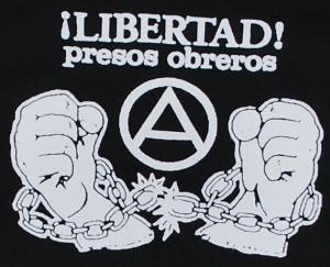 Detailansicht Kapuzen-Pullover: Libertad presos obreros!