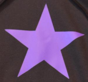 Detailansicht Kapuzen-Pullover: Lila Stern