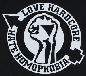 Detailansicht Longsleeve: Love Hardcore - Hate Homophobia