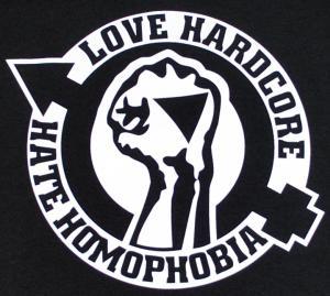 Detailansicht Woman Tanktop: Love Hardcore - Hate Homophobia