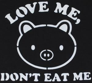 Detailansicht tailliertes T-Shirt: Love Me - Don't Eat Me