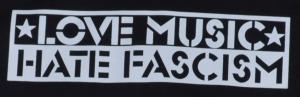Detailansicht Sweat-Jacket: Love Music Hate Fascism