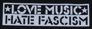 Detailansicht Tanktop: Love Music Hate Fascism