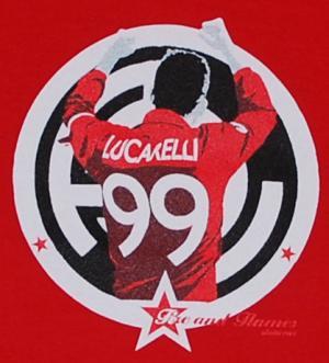 Detailansicht tailliertes T-Shirt: Lucarelli red