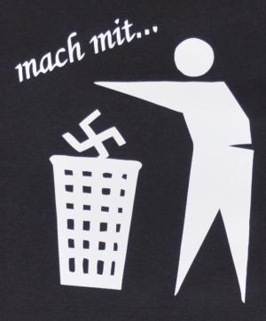 Detailansicht Fairtrade T-Shirt: Mach mit ...