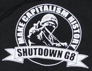 Detailansicht Kapuzen-Pullover: Make Capitalism History