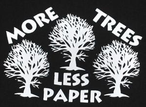 Detailansicht Kapuzen-Pullover: More Trees - Less Paper