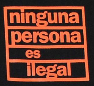 Detailansicht T-Shirt: ninguna persona es ilegal