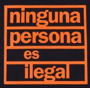 Detailansicht Girlie-Shirt: ninguna persona es ilegal