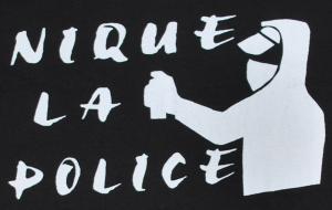 Detailansicht Girlie-Shirt: Nique la police