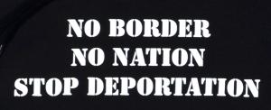 Detailansicht Kapuzen-Pullover: No Border - No Nation - Stop Deportation
