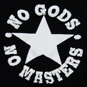 Detailansicht Trägershirt: No Gods No Masters