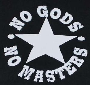 Detailansicht Kapuzen-Jacke: No Gods No Masters