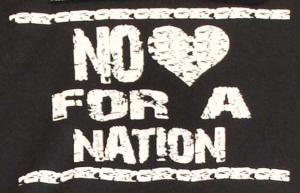 Detailansicht Kapuzen-Pullover: No heart for a nation