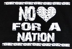 Detailansicht Trägershirt: No heart for a nation
